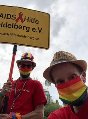 Demonstrieren für Rechte von queeren Menschen