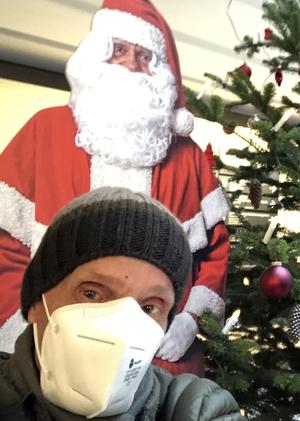 Selfie mit dem Weihnachtsmann